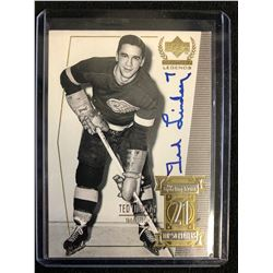 TED LINDSAY SIGNED UPPER DECK CENTURY LEGENDS HOCKEY CARD