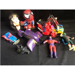MISCELLANEOUS TOY LOT (SPIDER-MAN/ BATMAN...)