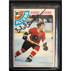 BOBBY CLARKE SIGNED VINTAGE HOCKEY CARD