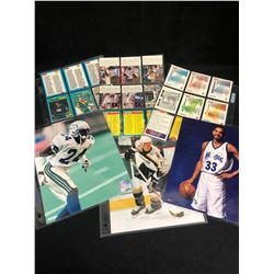 SPORTS PHOTOS/ TRADING CARDS LOT