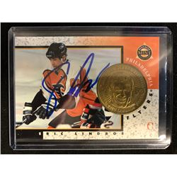 ERIC LINDROS SIGNED PINNACLE MINT COLLECTION HOCKEY CARD