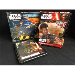 STAR WARS TOY LOT (PUZZLE/ MAGNETIC PLAYSET...)