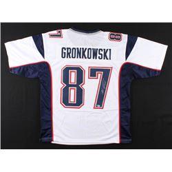 Rob Gronkowski Signed New England Patriots Jersey (Beckett COA)