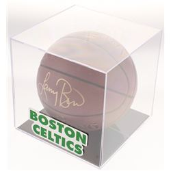 Larry Bird Signed Basketball with Display Case (PSA COA)