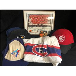 SPORTS APPAREL/ SIGNED PHOTO LOT