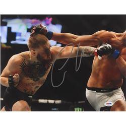 "Conor McGregor Signed ""UFC 202 Punching Diaz"" 16x20 Photo (PSA COA)"