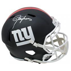 Lawrence Taylor Signed New York Giants Full-Size Matte Black Speed Helmet (JSA COA)