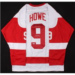 GORDIE HOWE SIGNED RED WINGS JERSEY (PSA/ DNA COA)