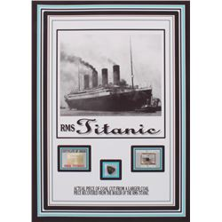 """RMS TITANIC 5"""" X 7"""" PHOTO (ACTUAL PIECE OF COAL RECOVERED FROM THE BOILER OF THE RMS TITANIC"""