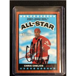 CHRIS CHELIOS SIGNED TOPPS HERITAGE ALL-STAR HOCKEY CARD
