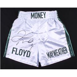 "Floyd Mayweather Jr. Signed ""Floyd Mayweather"" Boxing Trunks (Beckett COA)"