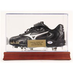 Carlton Fisk Signed Baseball Cleat with Display Case (PSA COA)