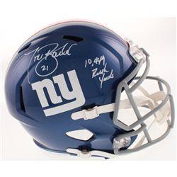 """Tiki Barber Signed New York Giants Full-Size Speed Helmet Inscribed """"10,449 Rush Yards"""" (JSA COA)"""