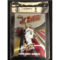 Lebron James 2003-04 Topps Finest Rookie Card (Beckett Raw Review 9)