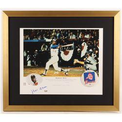 Hank Aaron Signed Atlanta Braves 22x26 Custom Framed Photo (PSA COA)