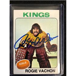 ROGIE VACHON SIGNED VINTAGE HOCKEY CARD