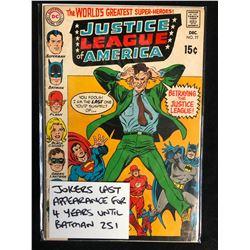 JUSTICE LEAGUE OF AMERICA #77 (DC COMICS)