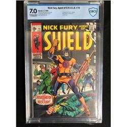 NICK FURY AGENT OF S.H.I.E.L.D #15 (MARVEL COMICS) 1969 **CBCS GRADED 7.0**