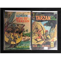 VINTAGE GOLD KEY COMICS BOOK LOT (TARZAN/ KORAK)