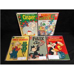 VINTAGE COMIC BOOK LOT (CASPER/ UNCLE SCROOGE/ FELIX THE CAT...)