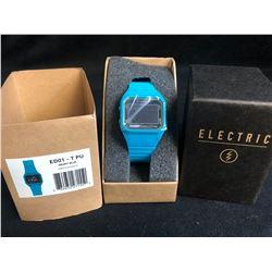 New In Box Electric (ED01 - T PU) Bright Blue Wrist Watch