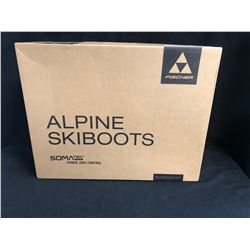 FISCHER ALPINE YELLOW SKI BOOTS (SIZE 8.5 MENS)