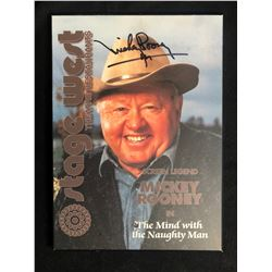 MICKEY ROONEY SIGNED 8 X 10 PLAQUE