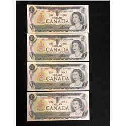 1973 $1 UNCIRCULATED SEQUENTIAL CANADIAN BANK NOTES