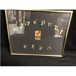1994 VICTORIA COMMONWEALTH GAMES FRAMED PINS