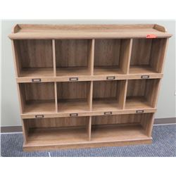 Wooden 10 Compartment Cabinet Shelf