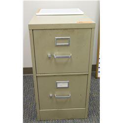 "2-Drawer Metal Filing Cabinet 15""W x 26.5""D x 29""H"