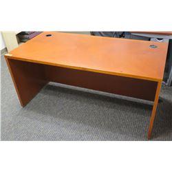 """Wooden Office Desk w/ Closed Back 63""""W, 33.3""""D"""