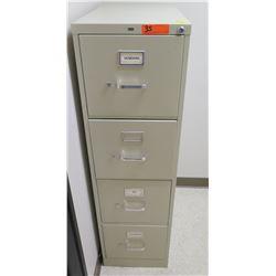 "HON 4-Drawer Vertical Metal Filing Cabinet 15""W, 26.5""D, 52""H"
