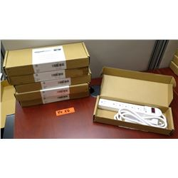 Qty 6 Amazon Basic 6 Outlet Surge Protectors w/ 6' Cord New in Box