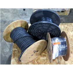 Qty 3 Spools - Southwire CSA LL90458 500 W Cable, 7957A CMR CMX Cable & Wire Reel