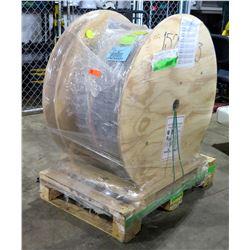 "Large Wooden Reel 60770 175' HybriFlex 1.25"" ODTR HI54XC035 RF Cable"