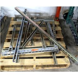 Multiple Metal Adjustable Shelf Supports Rails