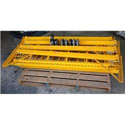 Pallet of Yellow Scaffolding w/ Wheels