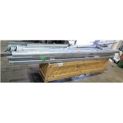 Multiple Heavy Duty Steel Pipe w/ Hangers & Antenna Connectors