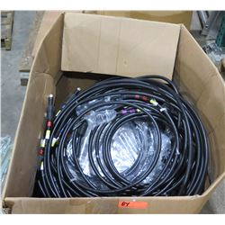 Box Multiple Misc Ribbed Cable w/ Connector Ends
