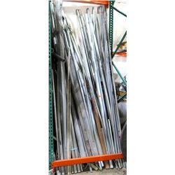 Multiple Heavy Duty Steel Pipes, JM Eagle Rigid PVC Conduit, etc