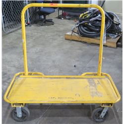 Yellow Metal 4 Wheel Rolling Dolly Hand Truck Cart Capacity 3000 Lbs