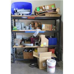 Metal Shelf with Contents: RFS Hybriflex, Dottie Fasteners, etc