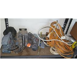 Bosch B7100 Orbital Sander, Roto-Up Tool, Clamp, Heavy Duty Extension Cords, etc