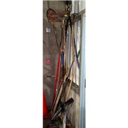 Multiple Misc Yard Tools - Rake, Shovel, Clippers, etc