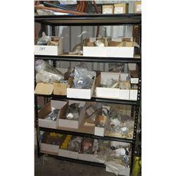 3 Shelves with Contents - Cables, Parts, Connectors, etc