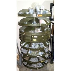 Round Metal 8 Tier Shelf w/ Contents - Fittings,  Bolts, Bushings, Connectors, etc