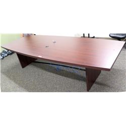 Oval Conference Table with Laminate Coating 10Ft x 4Ft