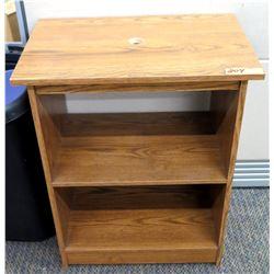 """Short Wooden 2-Tier Bookcase 23.5""""W x 15.5""""D x 28""""H"""