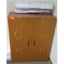 """Wooden 2 Door Cabinet w/ 3 Shelves Inside 29.5"""" x 16"""" x 35.5""""H"""